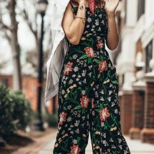 Old Navy Floral Summer Jumpsuit Cami Sleeveless